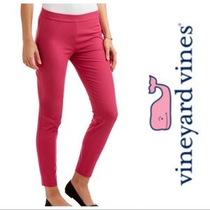 Vineyard Vines Stretch Solid Cranberry Pants
